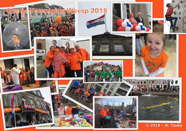 Collage Welkom in Weesp - Koningsdag 2018